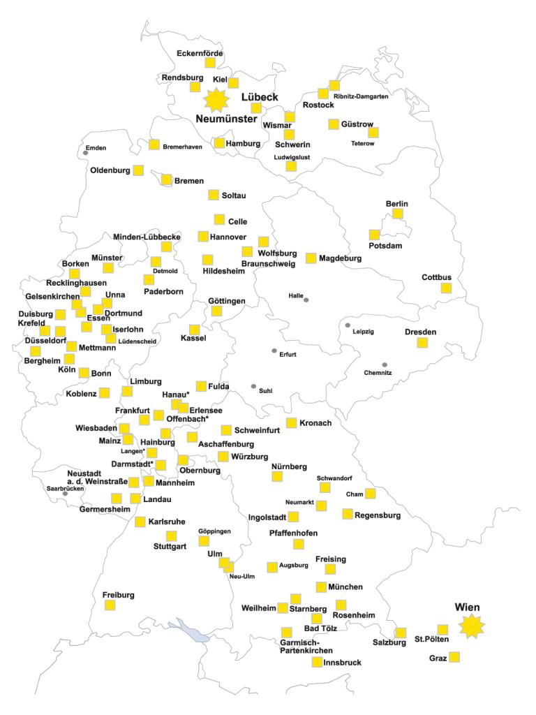 RohrStar Standorte