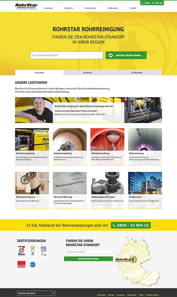 Rohrstar Website Screenshot