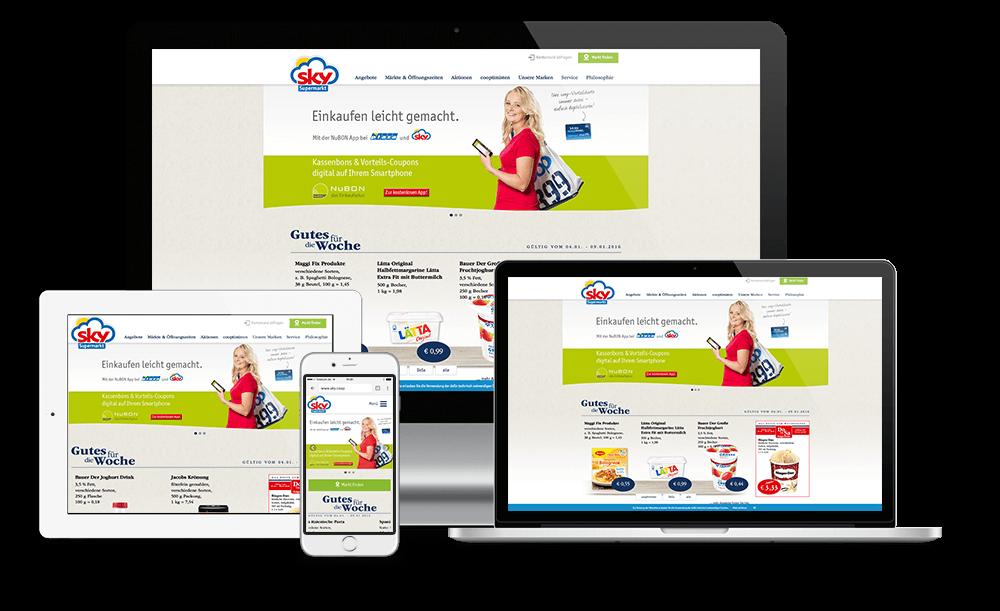 neue Sky Markt Website