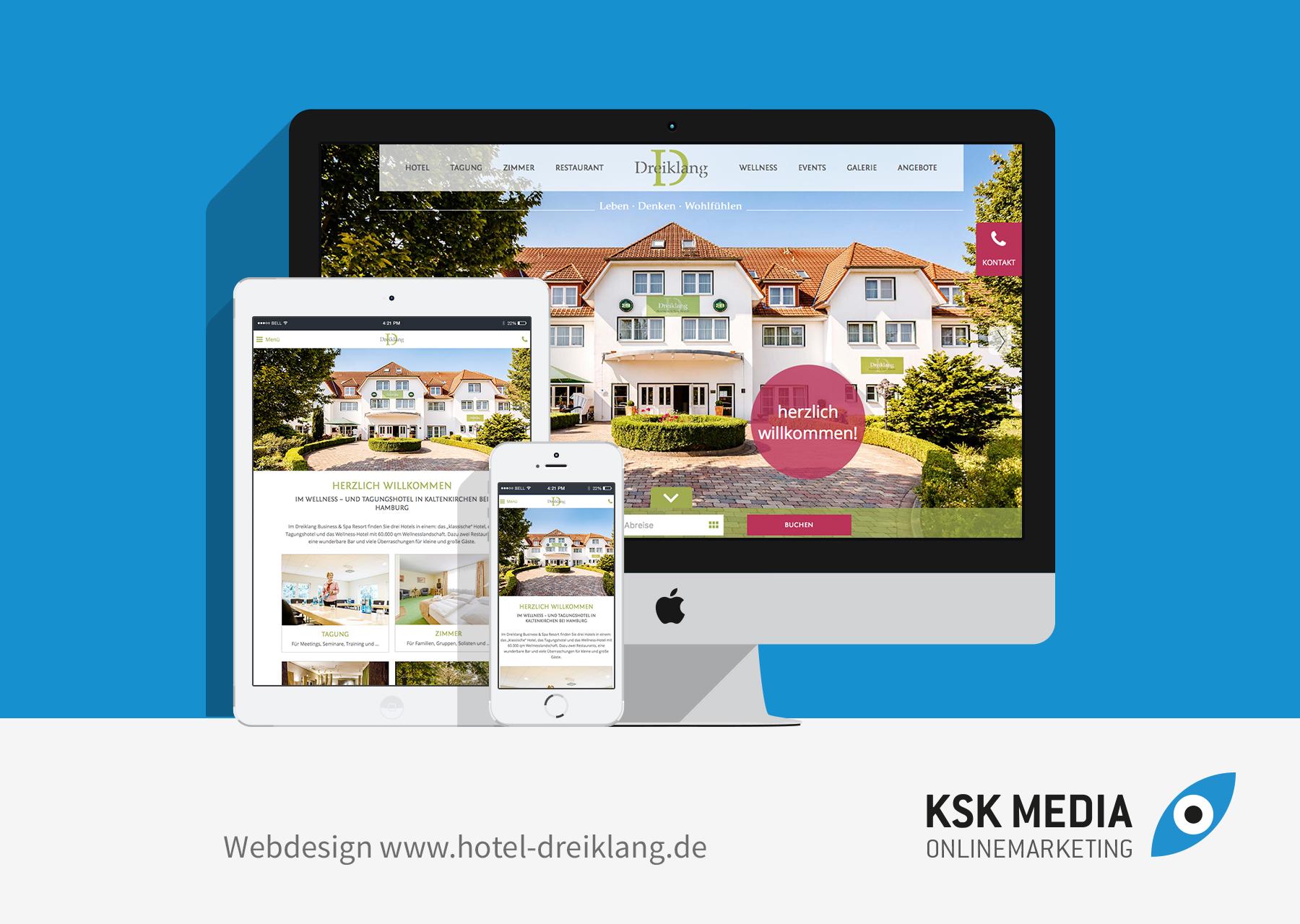 Hotel Dreiklang Webdesign