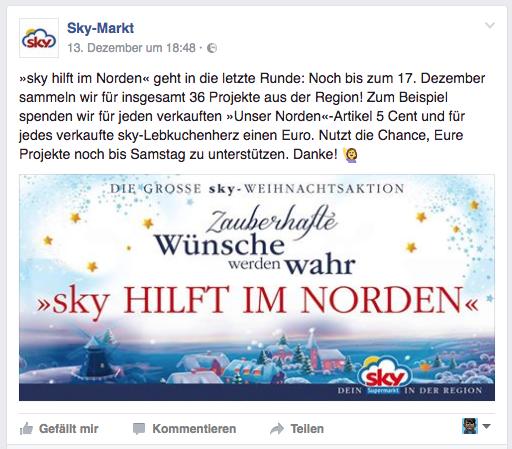 Facebook-Post sky