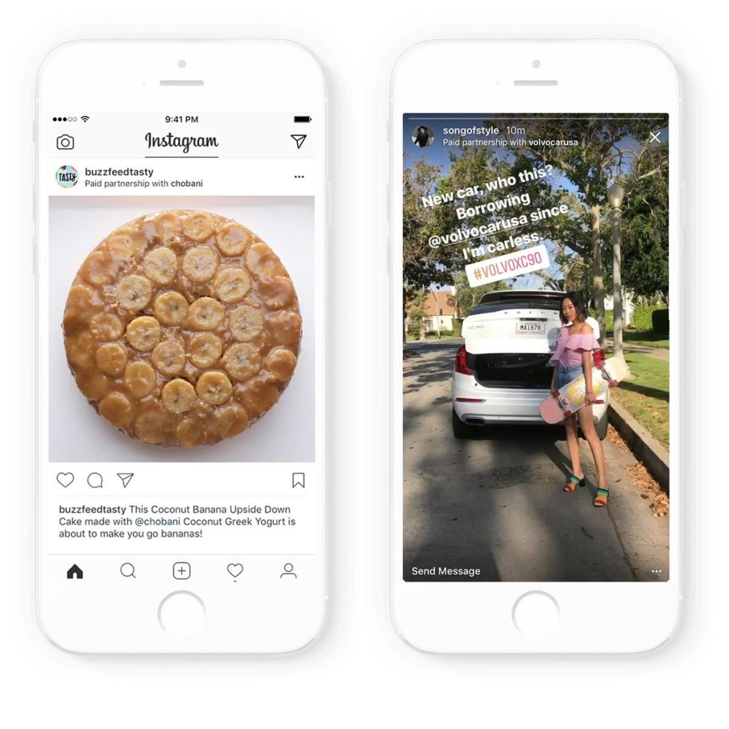 Tagging von Influencern oder Unternehmen auf Instagram. Quelle: business.instagram.com