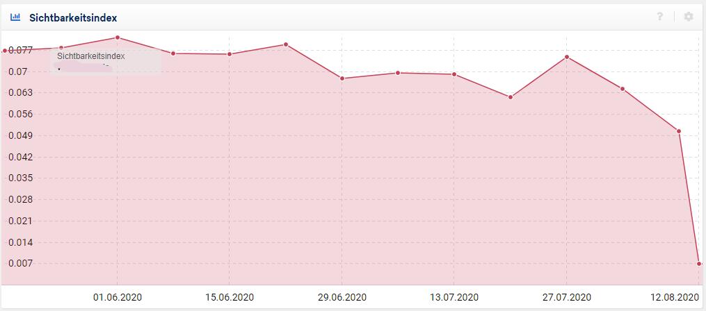 Sichtbarkeitsindex nach Google Bug